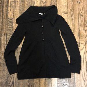 Vince black wool cardigan sweater size medium